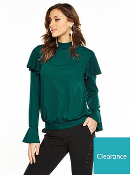 v-by-very-tie-back-long-sleeve-top-emerald-green