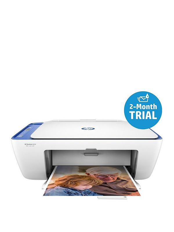 DeskJet 2630 Printer with Optional Ink and Photo Paper (Includes HP Instant  Ink 2 Month Trial) - Blue