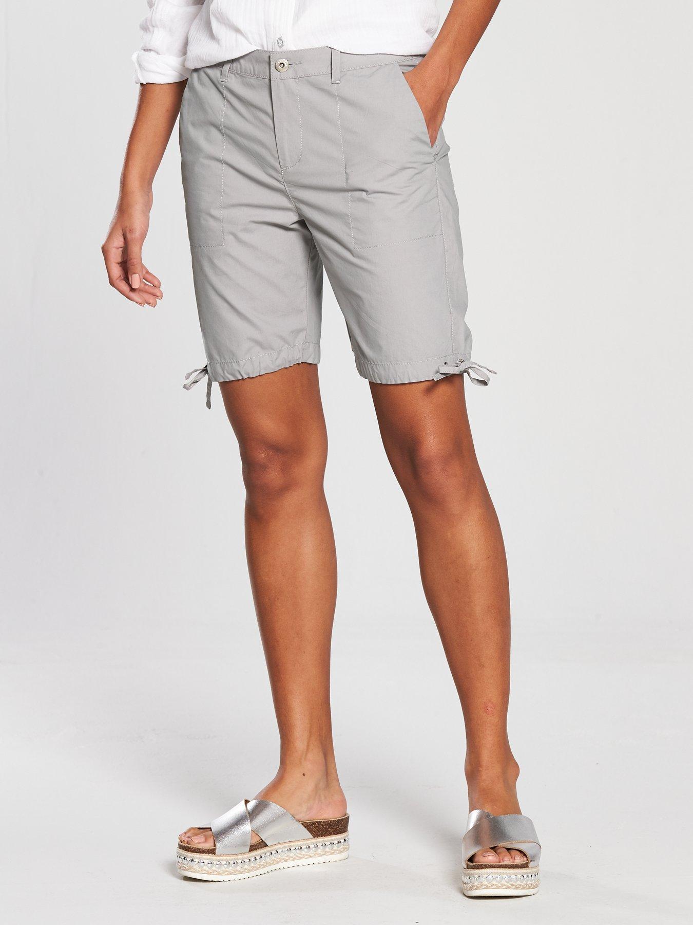 Very Longer Length Poplin Short - Grey, Soft Grey Women