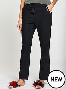 v-by-very-linen-trouser-black