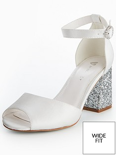 v-by-very-lily-wide-fit-bridal-glitter-block-heel-sandal-white