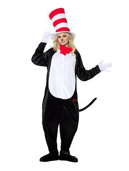 Dr Seuss Dr Seuss Cat In The Hat Adults Fancy Dress All In One