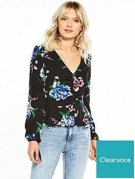 miss-selfridge-blouson-sleeve-top