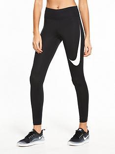 Nike Running Power Essential Swoosh Legging - Black