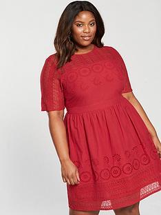 v-by-very-curve-cutwork-midi-dress-burnt-red