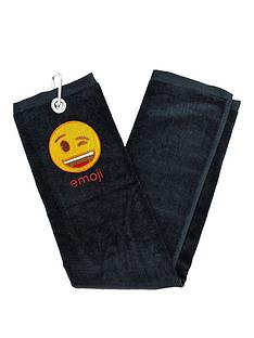 emoji-golf-towel-wink