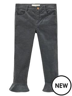 mango-girls-ruffle-hem-velvet-trousers