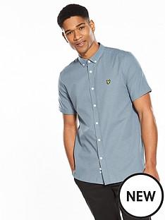 lyle-scott-lyle-amp-scott-short-sleeved-multi-coloured-running-stitch-shirt