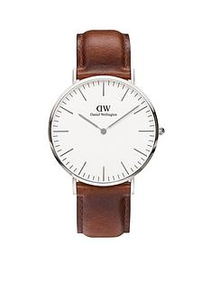 daniel-wellington-st-mawesnbspsilver-40mmnbspcase-brown-leather-strap-mensnbspwatch