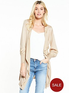 v-by-very-balloon-sleeve-waterfall-cardigan-taupe