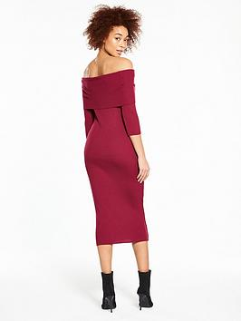 Wine Rib Skinny by Knitted Bardot V  Dress Very Sale Countdown Package Websites Online Clearance Sale Online Buy Cheap With Paypal xJuuzMdVv