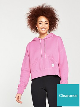 0abd784c7adc Converse Essentials Cropped Pullover Hoodie - Pink ...
