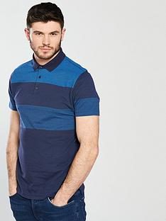 v-by-very-gradual-stripe-jacquard-polo