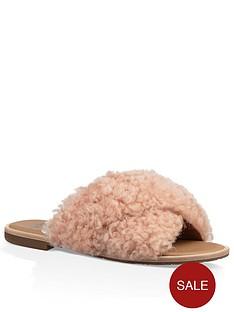 ugg-joni-fringed-slip-on-sandal-pink