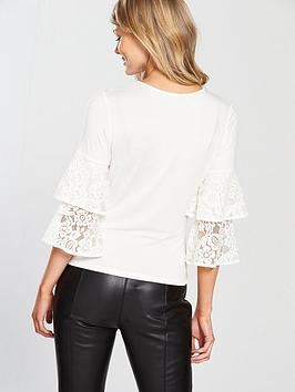 Buy Cheap Shopping Online Fast Delivery Cheap Price Top Petite Crochet V nbsp Sleeve by Very Ruffle Cheap Sale Best Y3ak5s