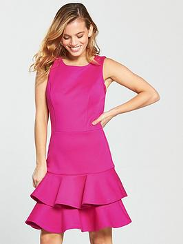 Cheap Sale Wholesale Price Order Cheap Online Hem PETITE nbsp Dress  Peplum V Very nbsp by Scuba Petite Fucshia ctSzkk