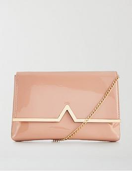 v-by-very-v-bar-patent-clutch-bag