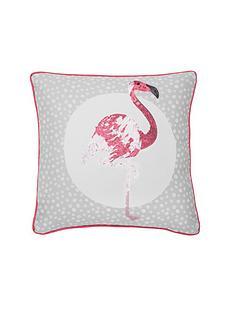 catherine-lansfield-flamingos-cushion