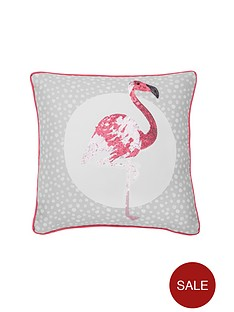 catherine-lansfield-flamingos-cushion