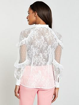 Shop Offer For Sale Very Tie by Lace V Neck Blouse Best Deals Cheap 100 Original New Arrival For Sale How Much ENBqlZ