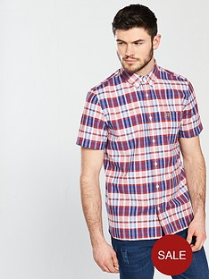 lacoste-lacoste-sportswear-short-sleeved-checked-shirt