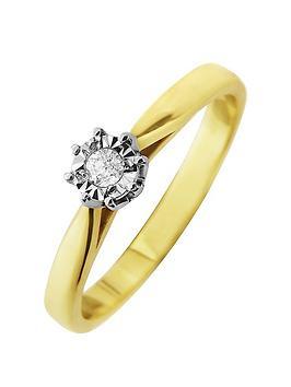 starlight-9ct-gold-14ctnbsplook-5-point-diamond-illusion-set-solitaire-ring