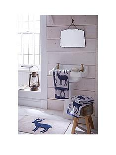 catherine-lansfield-pair-of-100-cotton-stag-jacquard-bath-towels-ndash-navy