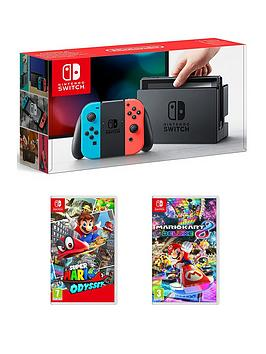 nintendo-switch-console-with-super-mario-odyssey-and-mario-kart-8
