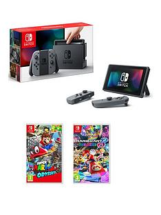 nintendo-switch-switch-grey-console-with-super-mario-odyssey-and-mario-kart-8