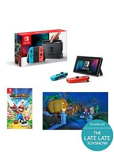 nintendo-switch-switch-neon-red-neon-blue-console-with-mario-nbsprabbids-kingdom-battle