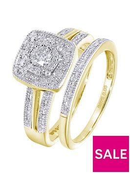 love-diamond-9ctnbspyellow-gold-50-point-diamond-square-set-split-shoulder-bridal-set-of-two-rings