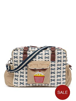 6920a0be36 Pink Lining Pink Lining Yummy Mummy Changing Bag - Navy Bows ...