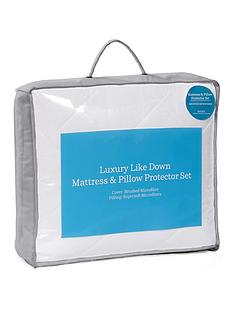 ideal-home-luxury-like-down-mattress-and-pillow-protector-set