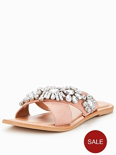 v-by-very-sinead-leather-embellished-slider-blush