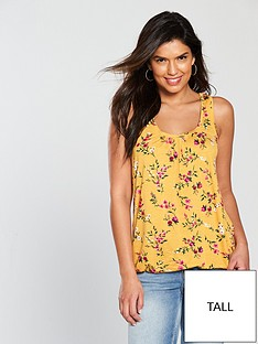 v-by-very-tall-scoop-bubble-hem-vest-mustard-print