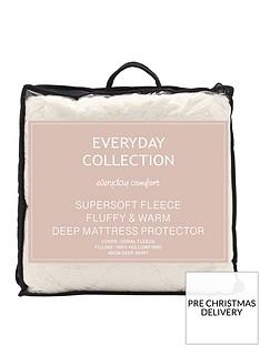 everyday-collection-super-soft-teddy-fleece-mattress-protector