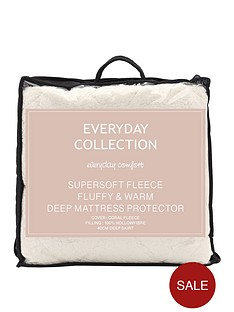 everyday-collection-super-soft-teddy-fleece-mattress-protector