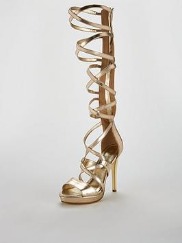 019cf18ab67 V by Very Goddess High Leg Gladiator Sandal - Gold ...