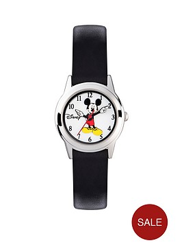 mickey-mouse-silver-case-black-leather-strap-boys-watch