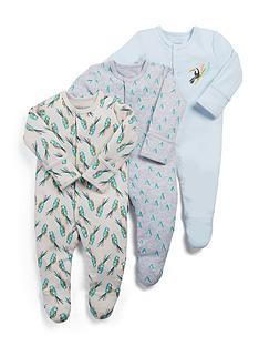 mamas-papas-baby-boys-3-pack-toucan-sleepsuits