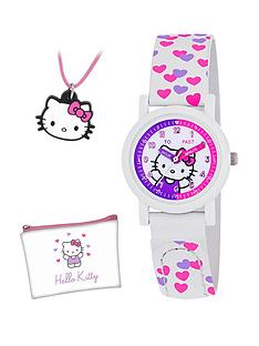 hello-kitty-hello-kitty-time-teacher-kids-watch-with-with-rubber-pendant-and-purse-gift-set
