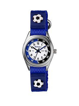 tikkers-tikkers-velcro-strap-football-kids-watch-blue