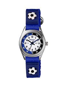 tikkers-velcro-strap-football-kids-watchnbsp--blue