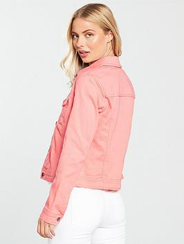 Jacket  Pink Denim Very Stretch by V Countdown Package Online Outlet Eastbay F6ZWE3