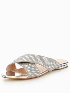 office-show-off-metallic-sandal-silver