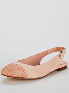 Womens Flossy Sling Back Ballet Flats Office
