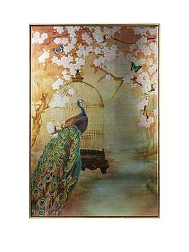 arthouse-suki-peacock-framed-canvas-print