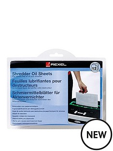 rexel-shredder-oil-sheets-2101948-pk12