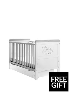 winnie-the-pooh-deluxe-cot-bed-withnbspunder-drawer-storage-dreams-amp-wishes