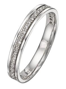 8ebcf9233ee Love DIAMOND 9 Carat White Gold 15pt Diamond-Set Wedding Band - 3 mm